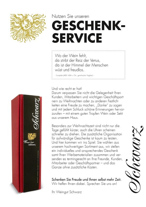 Geschenkservice | Weingut Schwarz, Heilbronn